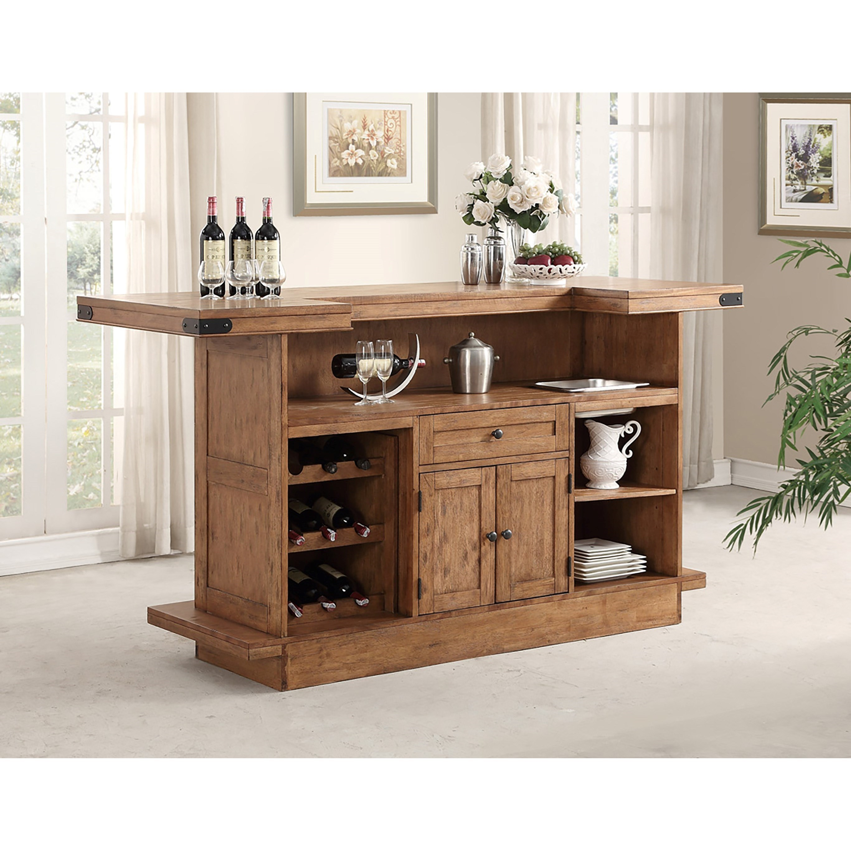 Shenandoah bar with built in wine rack by e c i furniture wolf and gardiner wolf furniture