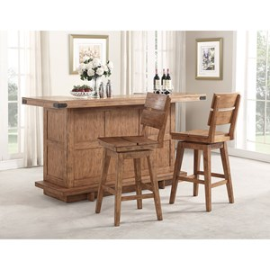 Shenandoah Bar With Built-In Wine Rack