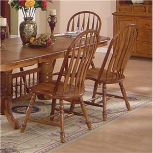 Solid Oak Dining Table Arrowback Chair Set By ECI Furniture