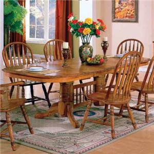 solid american oak table with two storing leaves - Kitchen Oak Table