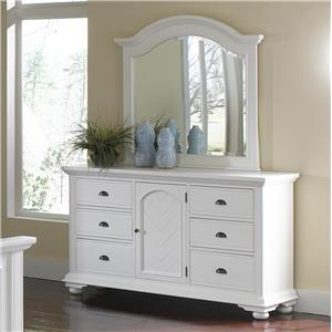 Elements International Brook Dresser and Mirror