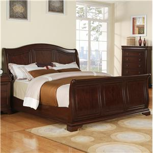 Elements International Cameron King Sleigh Bed