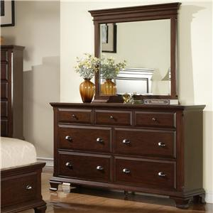 Elements International Canton Dresser & Mirror Combo