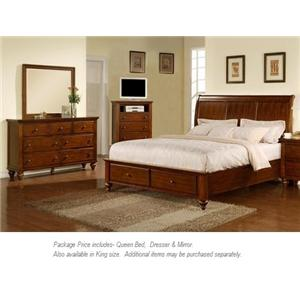 Elements International Chatham 3PC Queen Bedroom