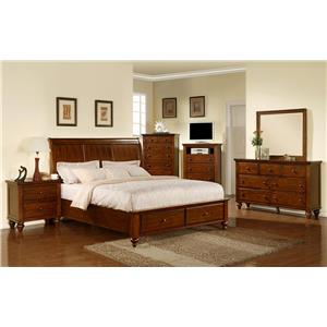 Elements International Cambridge Queen Storage Bedroom Group