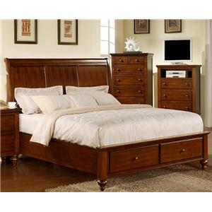 Elements International Chatham Queen Sleigh Bed