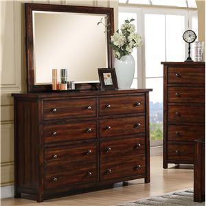Elements International Dawson Creek Dresser and Mirror Set
