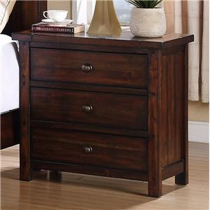 Elements International Dawson Creek Night Stand