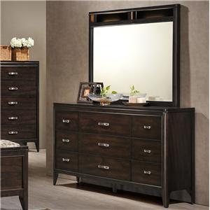 Elements International Eclipse Dresser and Mirror