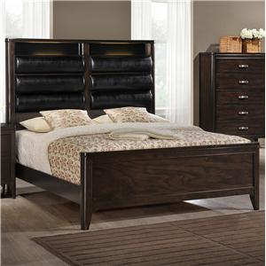Elements International Eclipse Queen Panel Bed