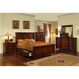 Elements International Hamilton 5 Piece Queen Bedroom Set