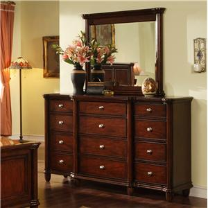 Elements International Hamilton Dresser & Mirror