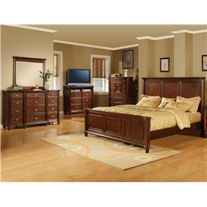 Elements International Hamilton 5 Piece Queen Bedroom Group