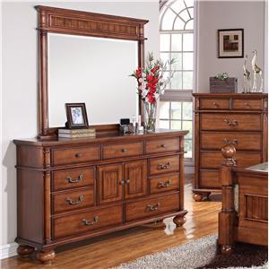 Elements International Mason Dresser and Mirror