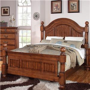 Elements International Mason Queen Panel Bed