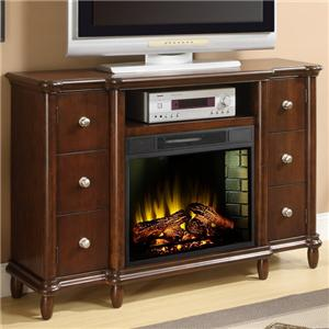 Elements International Occasional Accents Elements Fireplace/TV Stand