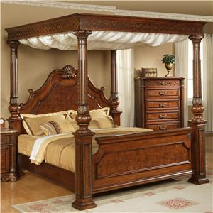 Elements International Olivia  Queen Canopy Bed