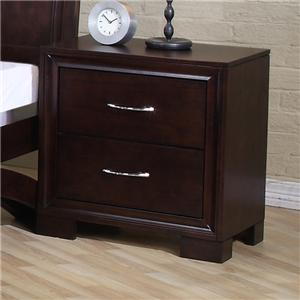 Elements International Raven Night Stand
