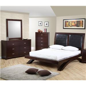 Elements International Raven Queen Bedroom Group