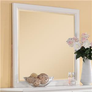 Elements International Spencer White Mirror