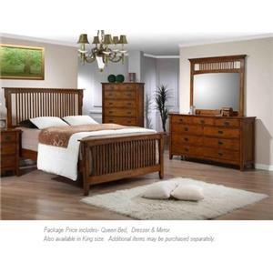 Elements International Trudy 3PC Queen Bedroom