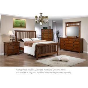 Elements International Trudy 4PC Queen Bedroom