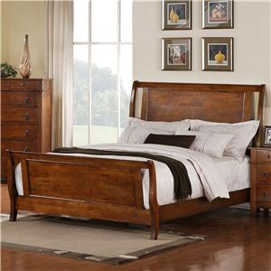 Elements International Tucson King Sleigh Bed