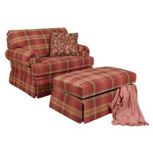 England Clare Chair and Ottoman