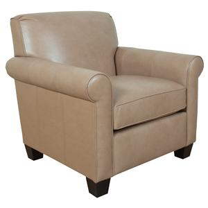 England Valdez Casual Rolled Arm Chair With Welt Cord Trim