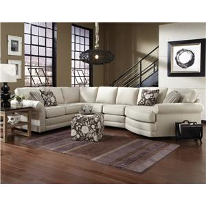England Brantley 5 Seat Sectional Sofa Cuddler