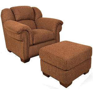 England Bryce Bryce Chair and Ottoman
