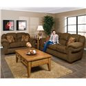 England Bryce Overstuffed Sofa - Shown With Bryce Loveseat
