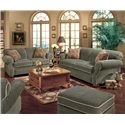 England Conner Casual Queen Sleeper Sofa - Shown with Coordinating Collection Loveseat. Sofa Shown May Not Represent Exact Features Indicated.