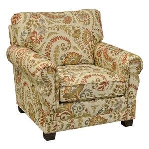 England Green Living Room Arm Chair