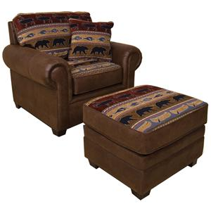 England Jaden Upholstered Chair and Ottoman