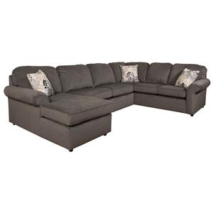 England Malibu 5-6 Seat Sectional with Visco Sleeper