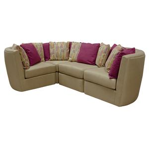 England Mod Pod 3 Seat L Shaped Sectional