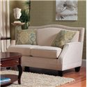 England Paige Traditional Upholstered Loveseat with Nail Head Trim