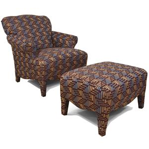 England Summit Upholstered Chair & Ottoman