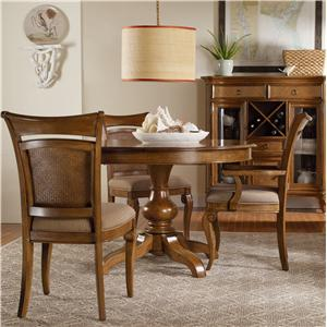 Hooker Furniture Windward Pedestal Table & Chairs Set