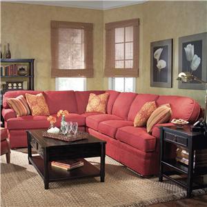 Fairfield 3722 Sectional Sofa with Sleeper