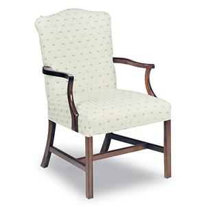 Fairfield Chairs Upholstered Exposed Wood Chair