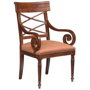 Fairfield Chairs Scroll-Arm Chair