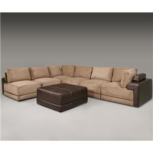 Fairmont Designs Bravo 7 Piece Sectional Group with Ottoman