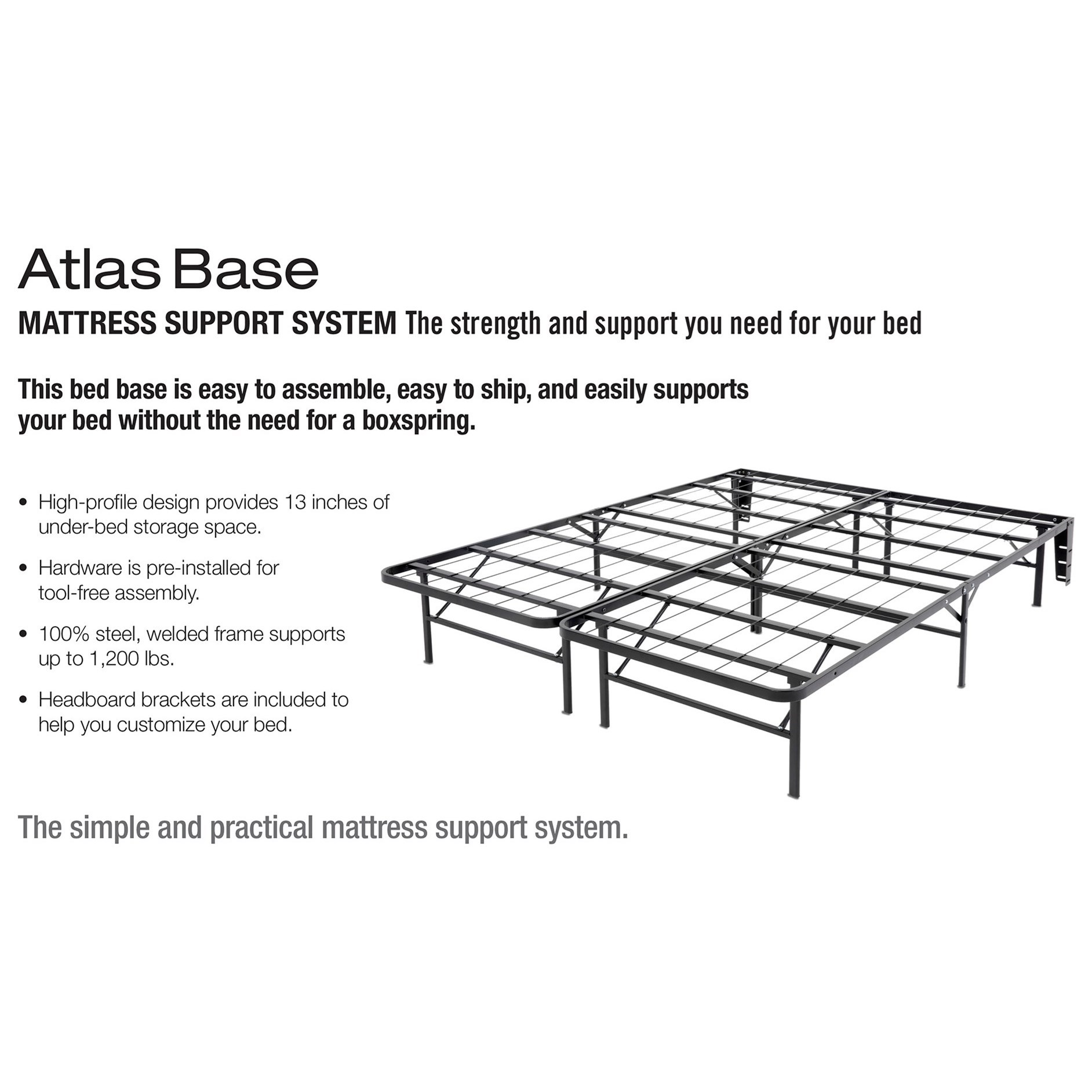 Atlas Cal King Bed Base Support System