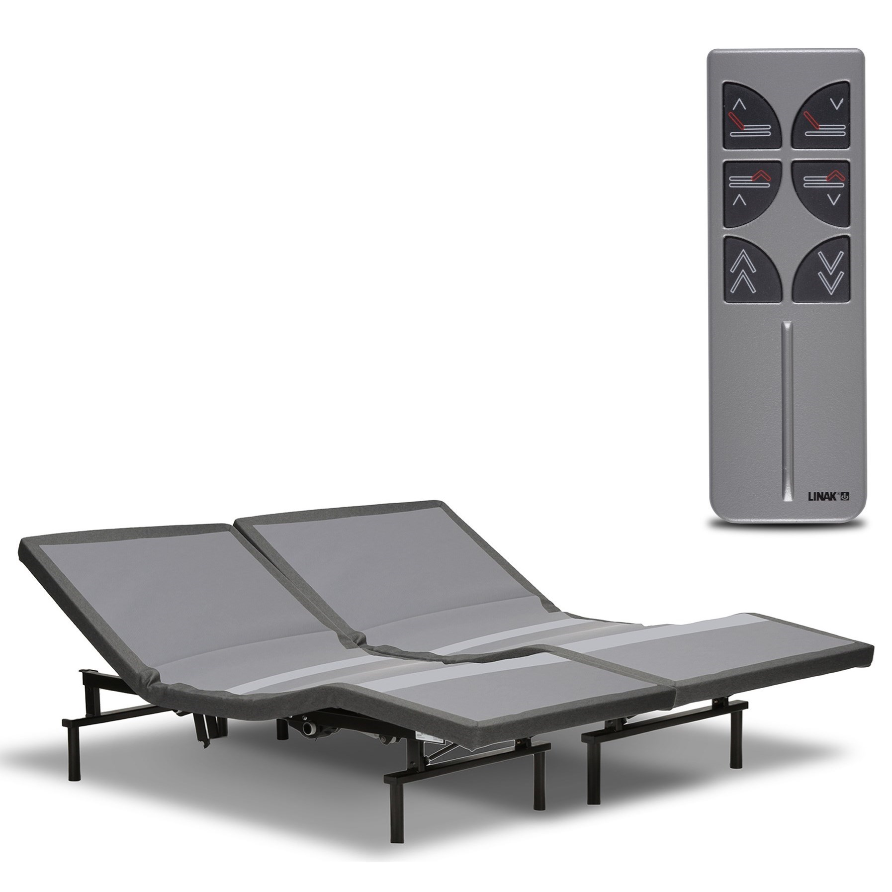 split queen falcon adjustable bed base with microhook retention