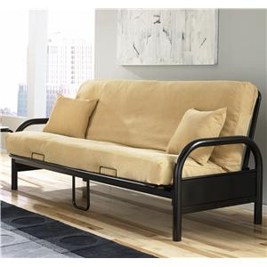 Fashion Bed Group Futons  Saturn Futon w/ Black Innerspring Mattress
