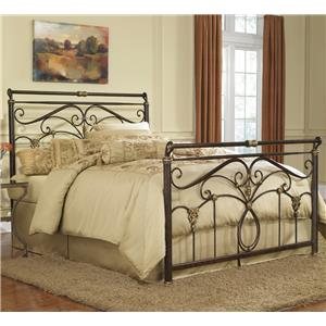 Fashion Bed Group Metal Beds Queen Lucinda Bed without Frame