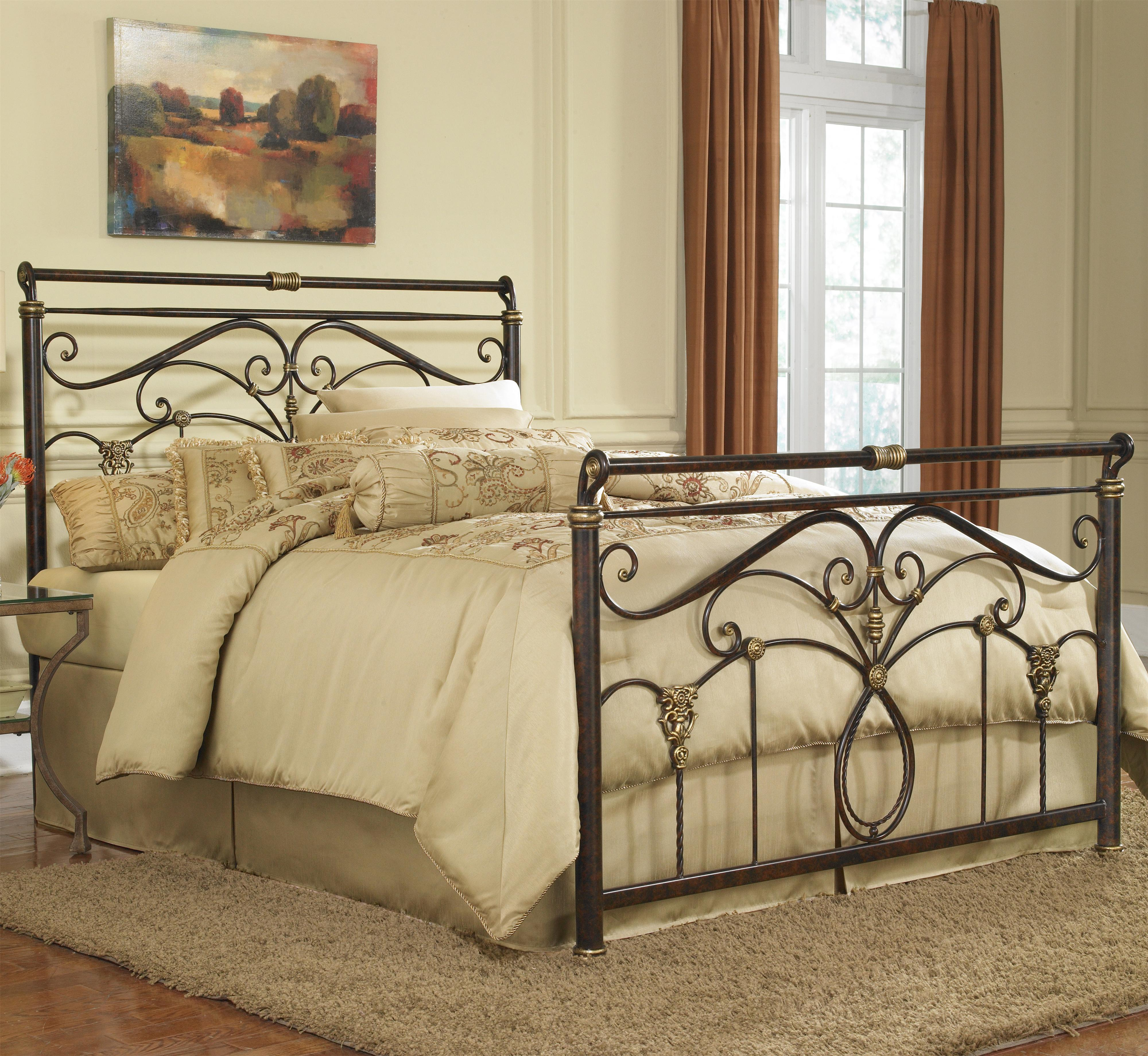 Metal Bedroom Furniture Set Full Lucinda Bed W Frame By Fashion Bed Group Wolf And Gardiner
