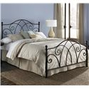 Fashion Bed Group Metal Beds Queen Deland Headboard w/ Finials - Shown as Bed